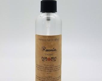 Rosewater Facial Toner, 4oz Pump Bottle