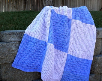 Snuggly Squares Baby Blanket Knitting Pattern