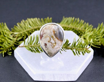 Storm Cloud Crazy Lace Agate Ring // Agate Jewelry // Crazy Lace Agate Jewelry // Sterling Silver // Village Silversmith