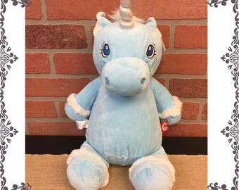 Blue Unicorn with personalized stomach