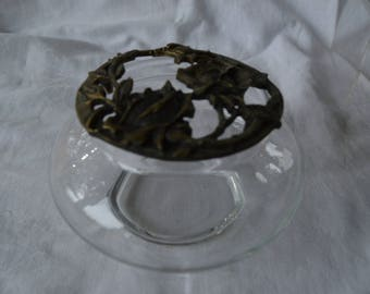Rawcliffe Pewter Rose and Vine Lid with Potpourri Lid - Vintage Item #4191  ON SALE NOW!!
