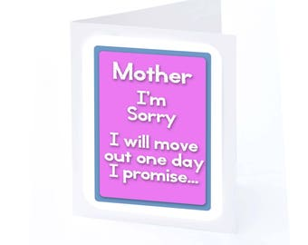 Mothers Day Card I'm Sorry ( 2 gifts in 1!!)