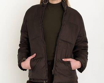 VINTAGE Brown Bomber Retro Jacket