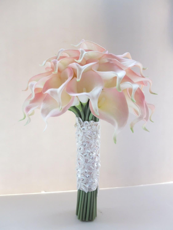 Blush Pink Calla Lily bouquet Bridal Bouquet wedding bouquet