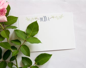 Personalized Stationery//Leaf Detail // Set of 25+