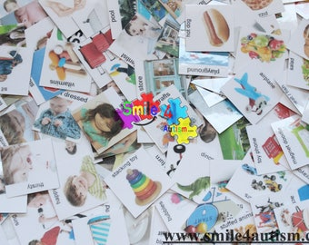 160 loose real photo Pecs for Autism, Speech, ADHD, communication, ABA, Language & apraxia perfect to create your own Pecs book
