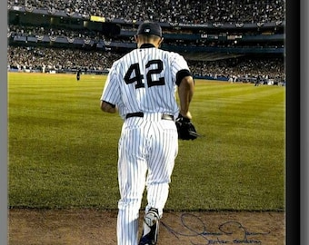 "Mariano Rivera ""Enter Sandman"" Signed RP,  11 X 14"" Inch, New York Yankees Canvas Wall Art."