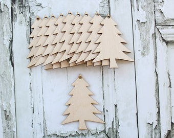 Christmas Tree Ornaments | Wood Christmas Tree Ornaments | DIY Christmas Tree | Free Shipping