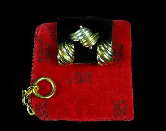 Puig Doria Vintage Silver & Gold Earrings and Ring Set