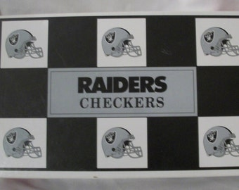 Raiders Versus 49ers Checkers game