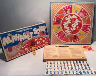 Vintage 1981 Alphabet Soup Board Game By Parker Brothers in Great Condition Complete FREE SHIPPING