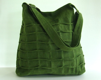 Sale - Forest Green Hemp/Cotton Bag, tote, purse, diaper bag, gym bag, messenger - Rosanne
