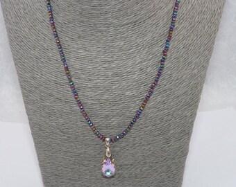 Swarovski handmade necklace, women's necklace, gift, crystal beads, swarovski pendant