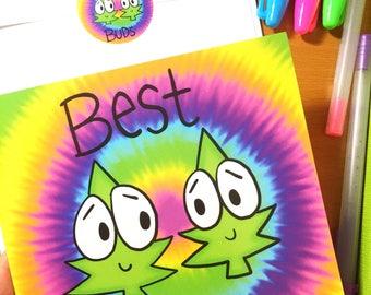 Best Buds greeting card & sticker set