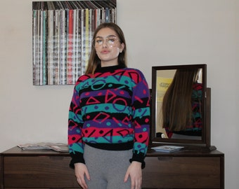 Vintage 1980's Patterned Sweater