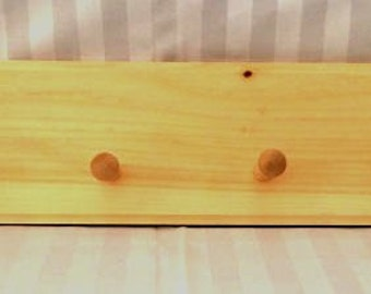 Handmade 4 Peg Coat Rack with Routed Edge