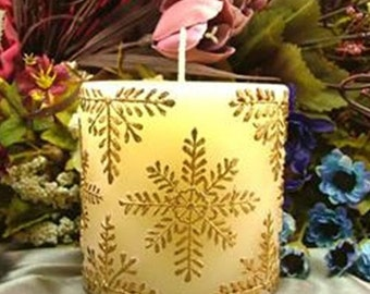 Snowflake Cylinder Candle Mold Cylinder Soap Mold Mould Silicone Mold DIY Handmade
