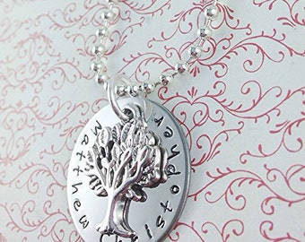 Hand Stamped Tree of Life Mother's Necklace