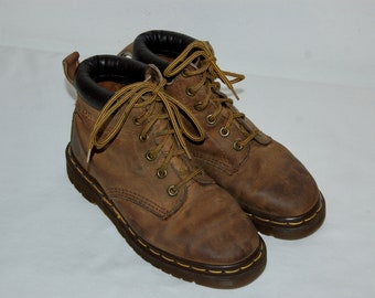 Women 5 US 3 UK Dr Martens Airwair Brown Leather Boots Made in England