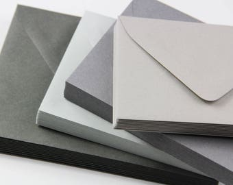 25 - A7 Gray Envelopes - 5x7 Envelopes -  Gray Wedding Envelopes