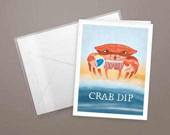 Crab Dip Notecards - Set of 4 - with envelopes