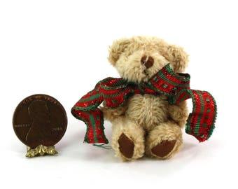Artisan Soft & Fuzzy Teddy Bear with Holiday Bow