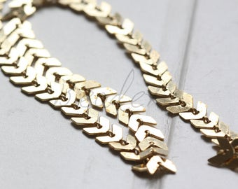 One Foot / Raw Brass / Brass Base / Arrow Chain / Chain (C3371)