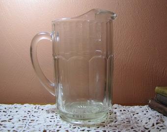 Vintage Glass Drink Pitcher