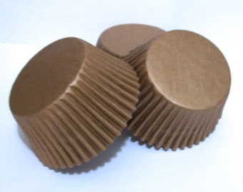 Paper Gold Cupcake Liners- Choose Set of 50 or 100