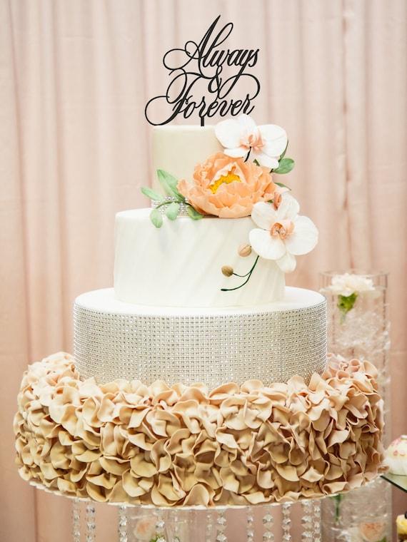 Always and Forever Cake Topper, Forever Cake Topper, Wedding Cake Topper, Modern Wedding Cake, Always and Forever, Cake Topper