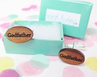 Engraved 'Godfather' Cufflinks