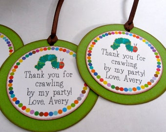 Very Hungry Caterpillar Party Favor Tags