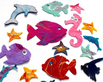 Fish, 10 x, the marine Party, underwater Party