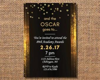 Oscar invitation Etsy