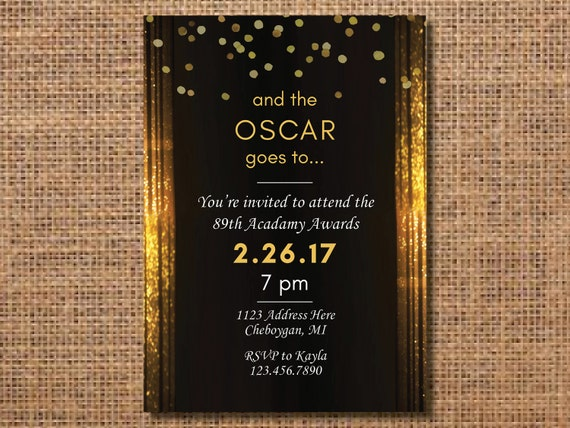oscar party einladung oscar party academy awards party. Black Bedroom Furniture Sets. Home Design Ideas