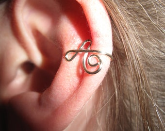 Wire Wrapped Single Initial Ear Cuff MADE TO ORDER