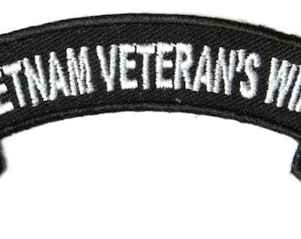 Vietnam Veteran's Wife Rocker Patch - By Ivamis Trading - 4x1.5 inch P4843