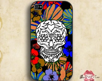 Dia de Los Muertos Skull - iPhone 4/4S 5/5S/5C/6/6+ and now iPhone 7 cases!! And Samsung Galaxy S3/S4/S5/S6/S7