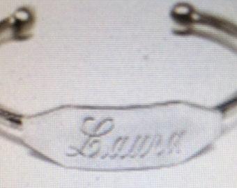 baby bracelet sterling bracelet personalized bracelet engraved bracelet sterling silver bracelet baby gift baby bracelet