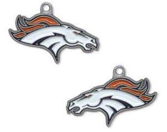 Broncos Duel Head Football Charm