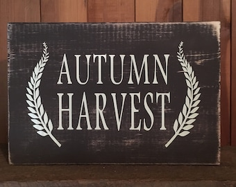 Autumn Harvest Sign