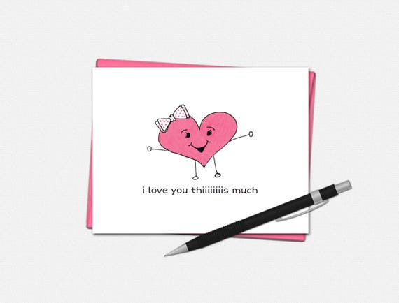 I Love You This Much - Valentine's Day Card