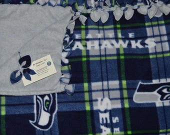 "Seattle Seahawks - Fleece Bo Blanket - 63"" x 58"""