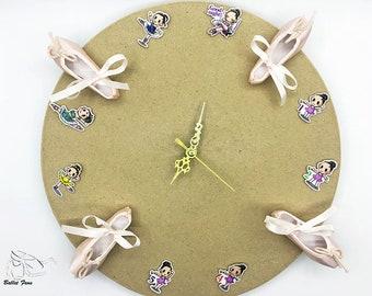Ballet Pointe Shoe Clock