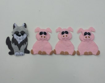 Three little pigs finger puppet set