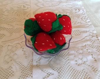 Eight strawberries