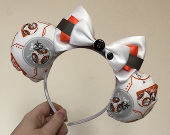 BB-8 inspired Mickey/Minnie Disney ears (Star Wars)
