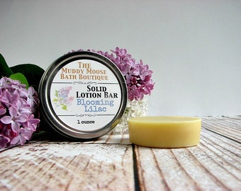 Lotion Bar -Solid Lotion - Beeswax Bar - Cuticle Balm - Solid Lotion Bar - Beeswax Lotion Bar - Beeswax Lotion - Lilac Lotion - ONE BAR