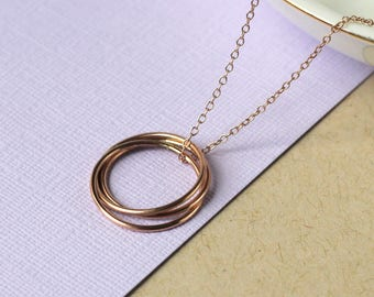 Handmade Nest Necklace - Rose Gold Fill | birthday gift | simple gold jewellery | 30th birthday present | mother's day