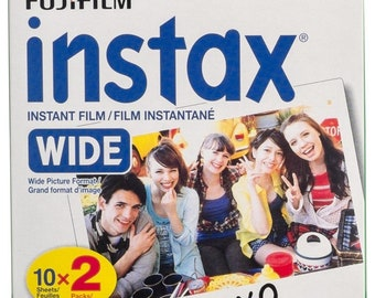 NEW Best Price! Fujifilm instax Wide Instant Film, 20 Exposures, White, New Packaging - FAST SHIPPING!!!